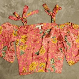 Forever 21 Pink Silky Blouse